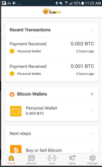 Coinpal - Wallet App for Bitcoin and Bitcoin Cash